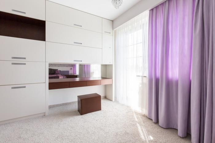 purple coloured custom curtains gold coast
