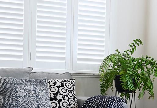 hybrid shutters in the loungeroom - white